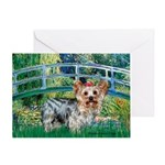 Bridge / Yorkie (T) Greeting Card