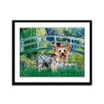 Bridge / Yorkie (T) Framed Panel Print