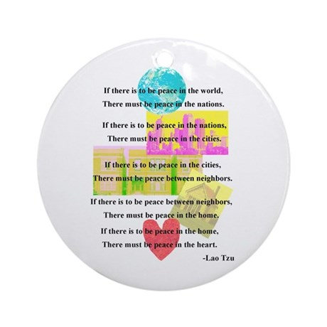 Peace Quote Ornament (Round)