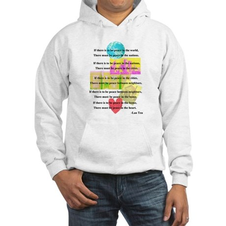 Peace Quote Hooded Sweatshirt