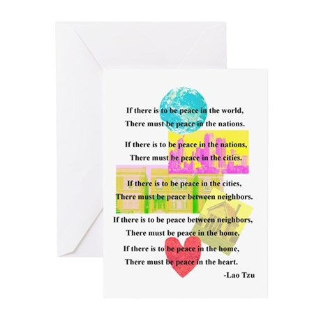Peace Quote Greeting Cards (Pk of 10)