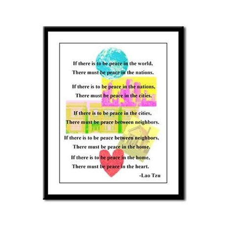Peace Quote Framed Panel Print