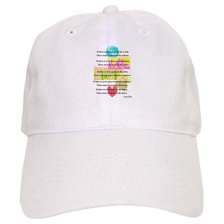 Peace Quote Cap