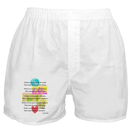 Peace Quote Boxer Shorts