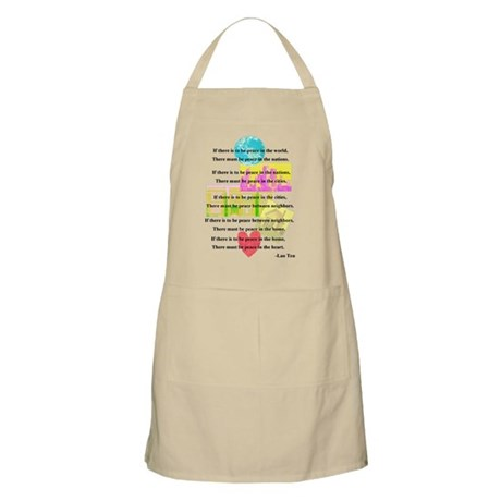 Peace Quote BBQ Apron
