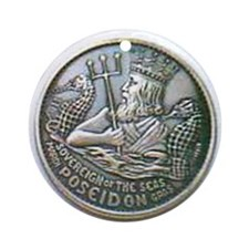 Poseidon Doubloon Ornament (Round)