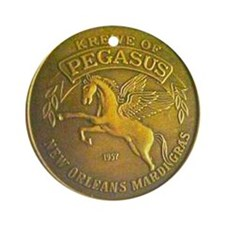 Pegasus Doubloon Ornament (Round)