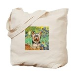 IRISES / Yorkie (17) Tote Bag