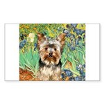 IRISES / Yorkie (17) Sticker (Rectangle)