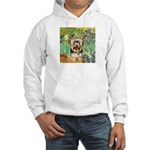 IRISES / Yorkie (17) Hooded Sweatshirt