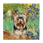 IRISES / Yorkie (17) Tile Coaster