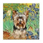 IRISES / Yorkie (17) Tile Coaster