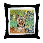 IRISES / Yorkie (17) Throw Pillow