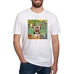 IRISES / Yorkie (17) Fitted T-Shirt