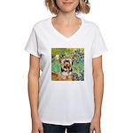 IRISES / Yorkie (17) Women's V-Neck T-Shirt