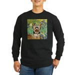 IRISES / Yorkie (17) Long Sleeve Dark T-Shirt