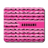 Pink monogram Mouse Pads
