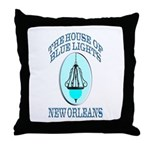 House of Blue Lights Throw Pillow