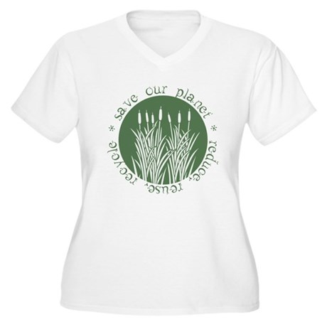 Save Our Planet Women's Plus Size V-Neck T-Shirt