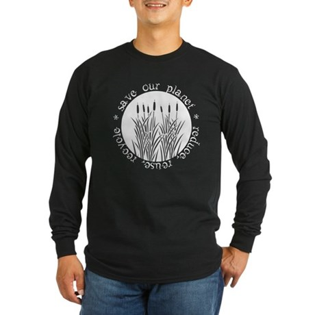Save Our Planet Long Sleeve Dark T-Shirt