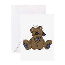 Teddy Blue Greeting Card