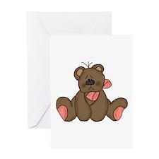 Teddy Pink Greeting Card