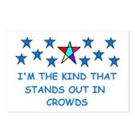 STANDS OUT IN CROWDS Postcards (Package of 8)