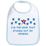 STANDS OUT IN CROWDS Bib