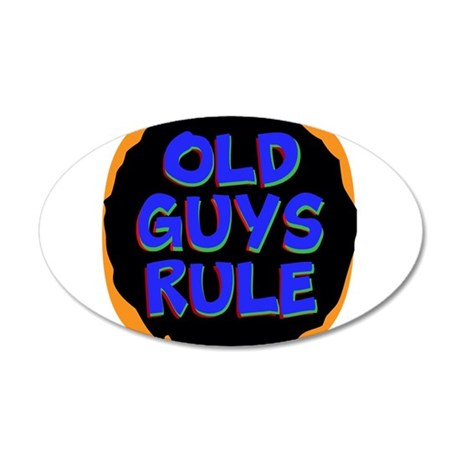 Old Guys Rule Wall Decal