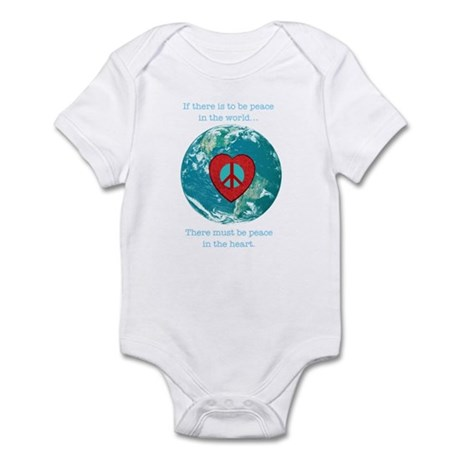 World Peace Heart Infant Bodysuit