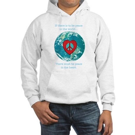 World Peace Heart Hooded Sweatshirt