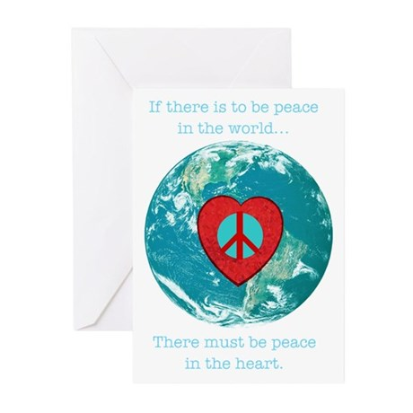 World Peace Heart Greeting Cards (Pk of 10)