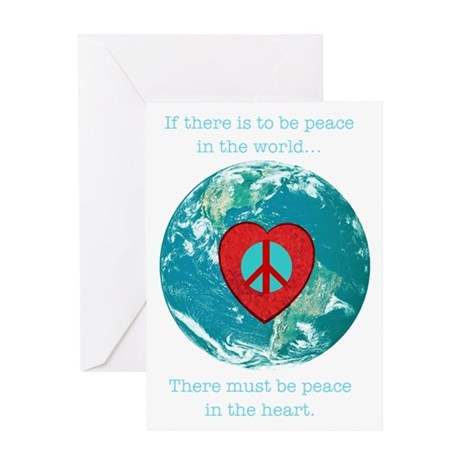 World Peace Heart Greeting Card