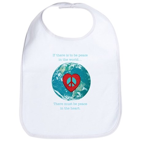 World Peace Heart Bib