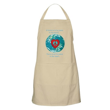 World Peace Heart BBQ Apron