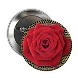 Red Rose Valentine Button
