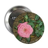 Pink Rose Valentine Button