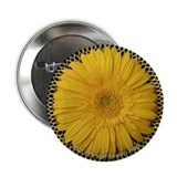 Yellow Daisy Valentine Button