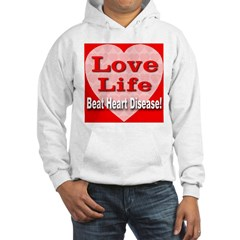 Love Life Beat Heart Disease Hooded Sweatshirt