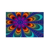"""Color 16"" Fractal Art Rectangle Magnet (10 pack)"