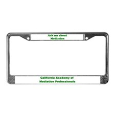 "CAMP ""Ask Me About Mediation"" License Plate Frame"