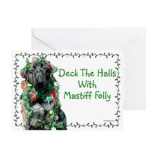Mastiff Folly Greeting Card