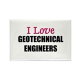 I Love GEOTECHNICAL ENGINEERS Rectangle Magnet (10