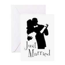 Elegant Just Married Greeting Card