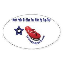 Flip Flop Slap! Oval Sticker