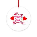 Sexy Dentist Ornament (Round)