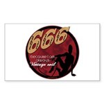 666 Devilish Sign Female Rectangle Sticker