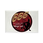 666 Devilish Sign Female Rectangle Magnet (100 pac