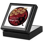 666 Devilish Sign Female Keepsake Box