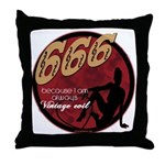666 Devilish Sign Female Throw Pillow